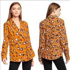 3.1 Phillip Lim Animal Print Shirt Blazer Top NWOT
